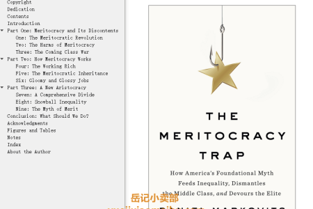【配音频】The Meritocracy Trap: How America's Foundational Myth Feeds Inequality, Dismantles the Middle Class, and Devours the Elite by Daniel Markovits(mobi,epub,pdf)