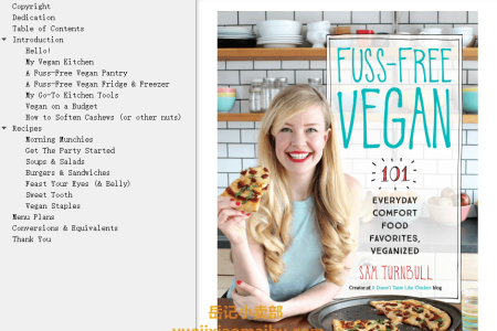 【电子书】Fuss-Free Vegan: 101 Everyday Comfort Food Favorites, Veganized by Sam Turnbull(mobi,epub,pdf)
