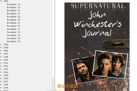 【电子书】Supernatural: John Winchester's Journal  (Supernatural) by Alexander C. Irvine(mobi,epub,pdf)