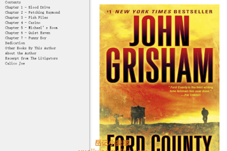 【配音频】Ford County by John Grisham(mobi,epub,pdf)