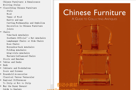 【电子书】Chinese Furniture: A Guide to Collecting Antiques by Karen Mazurkewich,  A. Chester Ong(mobi,epub,pdf)