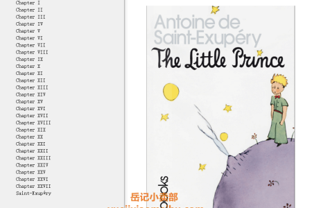 【配音频】The Little Prince by Antoine de Saint-Exupéry(mobi,epub,pdf)