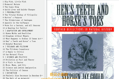 【配音频】Hen's Teeth and Horse's Toes: Further Reflections in Natural History (Reflections in Natural History #3) by Stephen Jay Gould(mobi,epub,pdf)