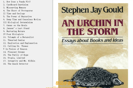 【配音频】An Urchin in the Storm: Essays about Books and Ideas by Stephen Jay Gould(mobi,epub,pdf)