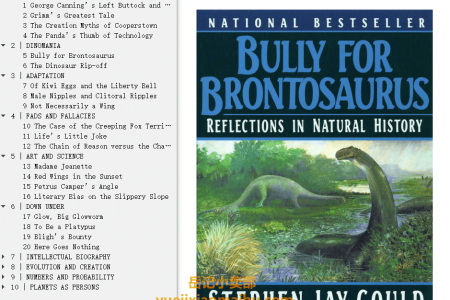 【配音频】Bully for Brontosaurus: Reflections in Natural History (Reflections in Natural History #5) by Stephen Jay Gould(mobi,epub,pdf)