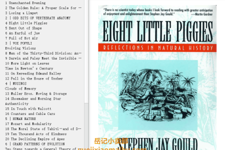 【配音频】Eight Little Piggies: Reflections in Natural History (Reflections in Natural History #6) by Stephen Jay Gould(mobi,epub,pdf)