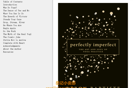 【配音频】Perfectly Imperfect: The Art and Soul of Yoga Practice by Baron Baptiste(mobi,epub,pdf)