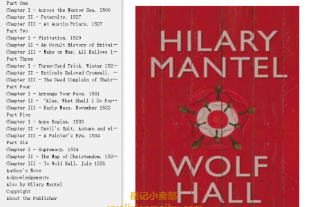 【配音频】Wolf Hall (Thomas Cromwell Trilogy #1) by Hilary Mantel(mobi,epub,pdf)