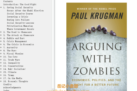 【配音频】Arguing with Zombies: Economics, Politics, and the Fight for a Better Future by Paul Krugman(mobi,epub,pdf)