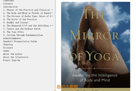 【配音频】The Mirror of Yoga: Awakening the Intelligence of Body and Mind by Richard Freeman(mobi,epub,pdf)