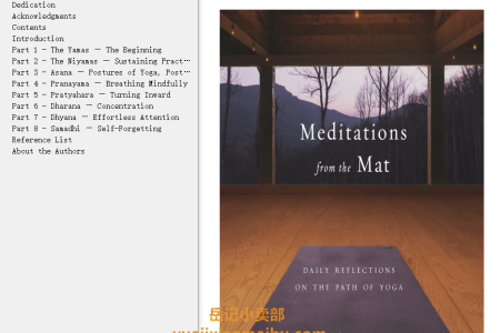 【配音频】Meditations from the Mat: Daily Reflections on the Path of Yoga by Rolf Gates, Katrina Kenison(mobi,epub,pdf)