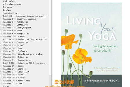 【配音频】Living Your Yoga: Finding the Spiritual in Everyday Life by Judith Hanson Lasater(mobi,epub,pdf)