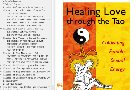 【配音频】Healing Love through the Tao: Cultivating Female Sexual Energy by Mantak Chia(mobi,epub,pdf)