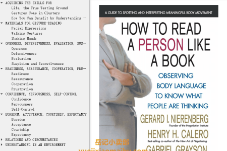【电子书】How to Read a Person Like a Book by Gerard I. Nierenberg, Henry H. Calero(mobi,epub,pdf)