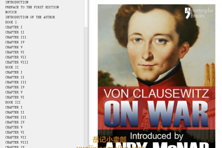 【配音频】On War by General Carl von Clausewitz , Colonel J.J. Graham(mobi,epub,pdf)