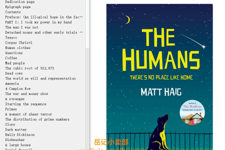 【配音频】The Humans by Matt Haig(mobi,epub,pdf)