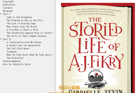 【配音频】The Storied Life of A.J. Fikry by Gabrielle Zevin(mobi,epub,pdf)