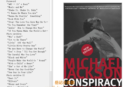 【电子书】Michael Jackson Conspiracy by Aphrodite Jones(mobi,epub,pdf)