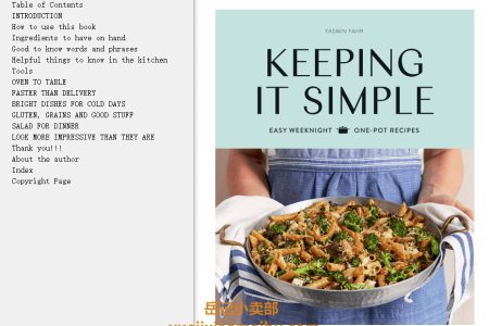 【电子书】Keeping It Simple: Easy Weeknight One-pot Recipes by Yasmin Fahr(mobi,epub,pdf)