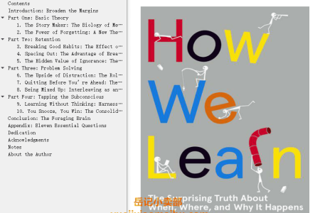 【配音频】How We Learn: The Surprising Truth About When, Where, and Why It Happens by Benedict Carey(mobi,epub,pdf)