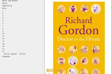 【电子书】Doctor in the House (Doctor in the House #1) by Richard Gordon(mobi,epub,pdf)