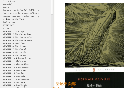 【配音频】Moby-Dick or, the Whale by Herman Melville(mobi,epub,pdf)