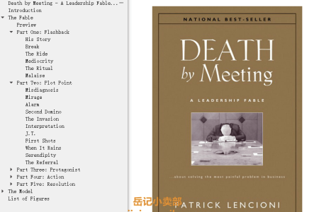【配音频】Death by Meeting: A Leadership Fable...about Solving the Most Painful Problem in Business by Patrick Lencioni(mobi,epub,pdf)