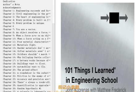 【电子书】101 Things I Learned in Engineering School by John Kuprenas,  Matthew Frederick(mobi,epub,pdf)