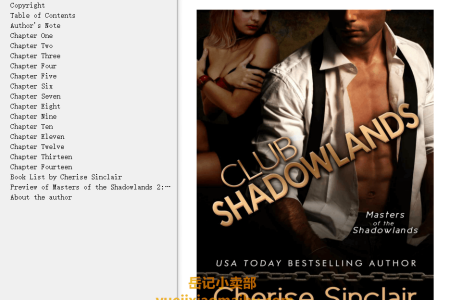 【配音频】Club Shadowlands (Masters of the Shadowlands #1) by Cherise Sinclair(mobi,epub,pdf)