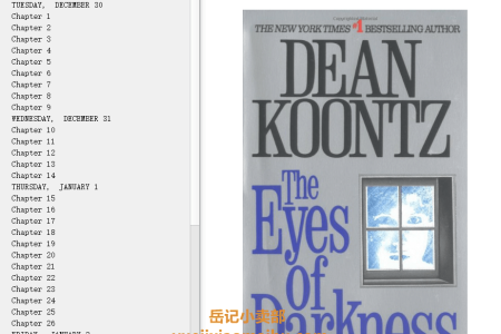 【配音频】The Eyes of Darkness by Dean Koontz(mobi,epub,pdf)