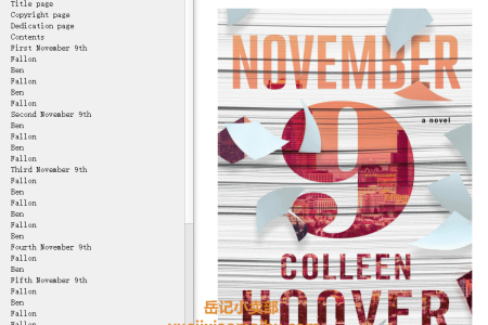 【配音频】November 9 by Colleen Hoover(mobi,epub,pdf)