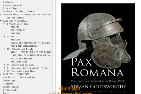 【配音频】Pax Romana: War, Peace, and Conquest in the Roman World by Adrian Goldsworthy(mobi,epub,pdf)