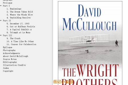 【配音频】The Wright Brothers by David McCullough(mobi,epub,pdf)
