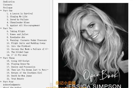 【配音频】Open Book by Jessica Simpson(mobi,epub,pdf)