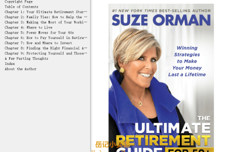 【配音频】The Ultimate Retirement Guide for 50+: Winning Strategies to Make Your Money Last a Lifetime by Suze Orman(mobi,epub,pdf)