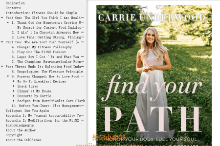 【配音频】Find Your Path: Honor Your Body, Fuel Your Soul, and Get Strong with the Fit52 Life by Carrie Underwood(mobi,epub,pdf)