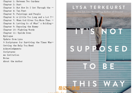 【配音频】It's Not Supposed to Be This Way: Finding Unexpected Strength When Disappointments Leave You Shattered by Lysa TerKeurst(mobi,epub,pdf)