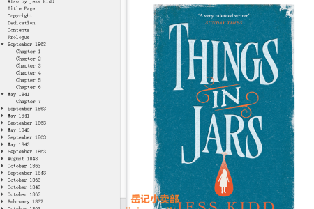 【配音频】Things in Jars by Jess Kidd(mobi,epub,pdf)