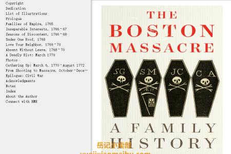 【配音频】The Boston Massacre: A Family History by Serena R. Zabin(mobi,epub,pdf)