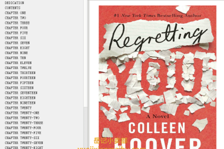 【配音频】Regretting You by Colleen Hoover(mobi,epub,pdf)