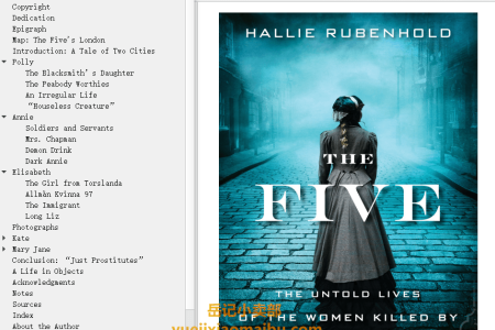 【配音频】The Five: The Untold Lives of the Women Killed by Jack the Ripper by Hallie Rubenhold(mobi,epub,pdf)