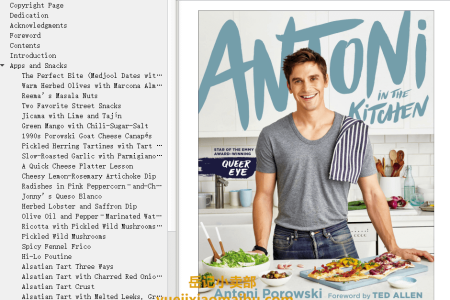 【电子书】Antoni in the Kitchen by Antoni Porowski(mobi,epub,pdf)