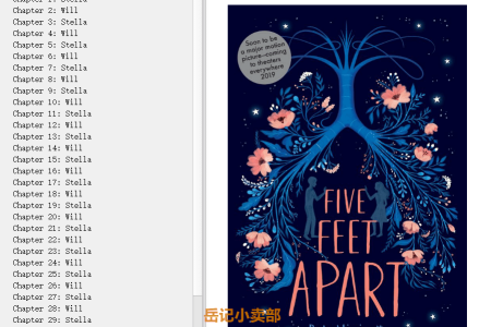【配音频】Five Feet Apart by Rachael Lippincott(mobi,epub,pdf)
