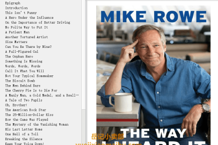 【配音频】The Way I Heard It by Mike Rowe(mobi,epub,pdf)