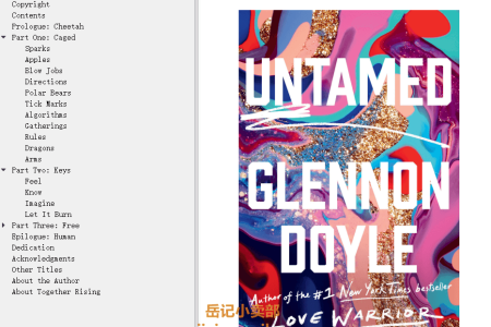 【配音频】Untamed by Glennon Doyle(mobi,epub,pdf)