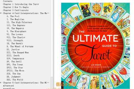 【电子书】The Ultimate Guide to Tarot: A Beginner's Guide to the Cards, Spreads, and Revealing the Mystery of the Tarot by Liz Dean(mobi,epub,pdf)