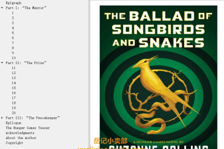 【配音频】The Ballad of Songbirds and Snakes (The Hunger Games #0) by Suzanne Collins(mobi,epub,pdf)