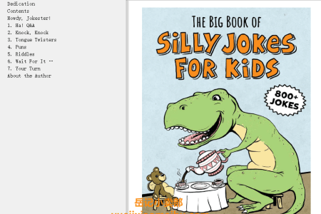 【电子书】The Big Book of Silly Jokes for Kids: 800+ Jokes! by Carole P. Roman(mobi,epub,pdf)