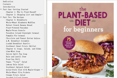 【电子书】The Plant-Based Diet for Beginners: 75 Delicious, Healthy Whole-Food Recipes by Gabriel Miller(mobi,epub,pdf)