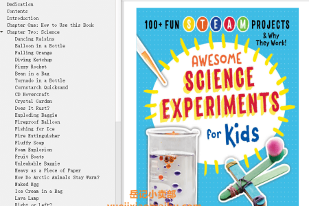 【电子书】Awesome Science Experiments for Kids: 100+ Fun STEM / STEAM Projects and Why They Work by Crystal Chatterton(mobi,epub,pdf)